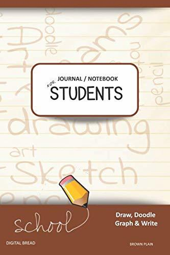 JOURNAL NOTEBOOK FOR STUDENTS Draw, Doodle, Graph & Write: Composition Notebook for Students & Homeschoolers, School Supplies for Journaling and Writing Notes BROWN PLAIN