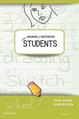 JOURNAL NOTEBOOK FOR STUDENTS Draw, Doodle, Graph & Write: Focus Composition Notebook for Students & Homeschoolers, School Supplies for Journaling and Writing Notes AVO PLAIN