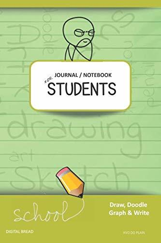 JOURNAL NOTEBOOK FOR STUDENTS Draw, Doodle, Graph & Write: Thinker Composition Notebook for Students & Homeschoolers, School Supplies for Journaling and Writing Notes AVO DO PLAIN