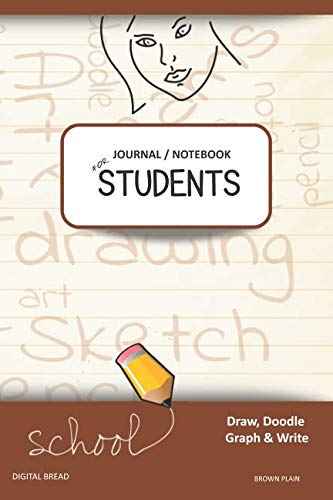 JOURNAL NOTEBOOK FOR STUDENTS Draw, Doodle, Graph & Write: Focus Composition Notebook for Students & Homeschoolers, School Supplies for Journaling and Writing Notes BROWN PLAIN
