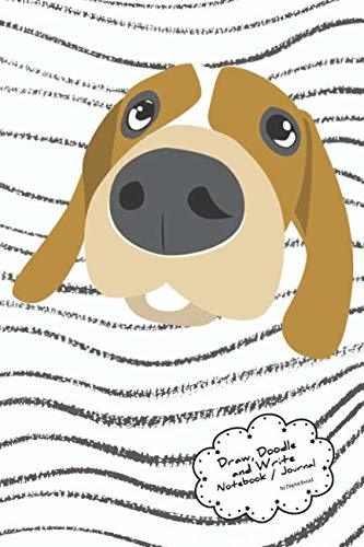 Draw, Doodle and Write Noteboook Journal: Doggy Striped Background Drawing Notebook Journal for School Taking Notes, for Journaling, and Drawing Sketching & Doodling – Write a Story and Illustration