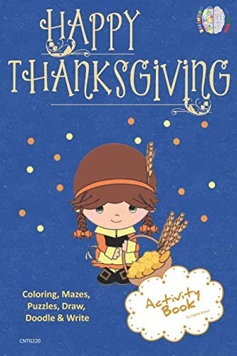 Happy Thanksgiving ACTIVITY BOOK Coloring, Mazes, Puzzles ...
